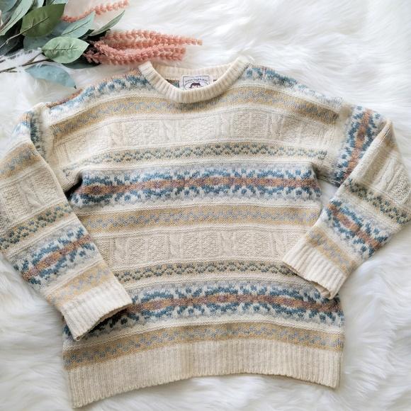 Vintage Koret Cream Knit Easter Bunny Sweater Vest